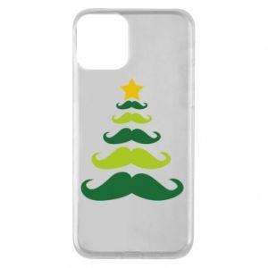 Etui na iPhone 11 Mustache Christmas Tree