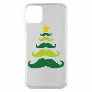 Etui na iPhone 11 Pro Mustache Christmas Tree