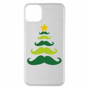 Etui na iPhone 11 Pro Max Mustache Christmas Tree