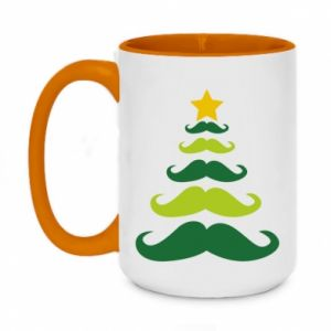 Kubek dwukolorowy 450ml Mustache Christmas Tree
