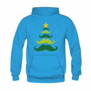 Bluza z kapturem dziecięca Mustache Christmas Tree