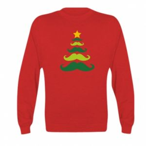Bluza dziecięca Mustache Christmas Tree