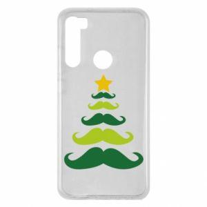 Etui na Xiaomi Redmi Note 8 Mustache Christmas Tree