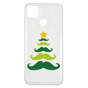 Etui na Xiaomi Redmi 9c Mustache Christmas Tree