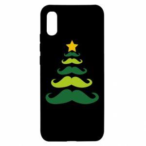 Etui na Xiaomi Redmi 9a Mustache Christmas Tree