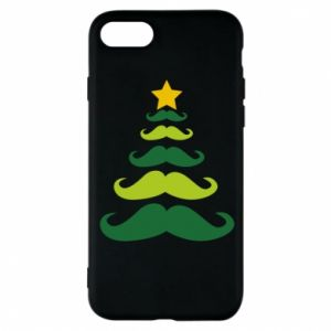 Etui na iPhone 8 Mustache Christmas Tree