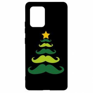 Etui na Samsung S10 Lite Mustache Christmas Tree