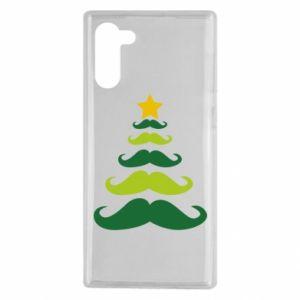 Etui na Samsung Note 10 Mustache Christmas Tree