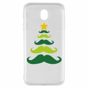 Etui na Samsung J7 2017 Mustache Christmas Tree