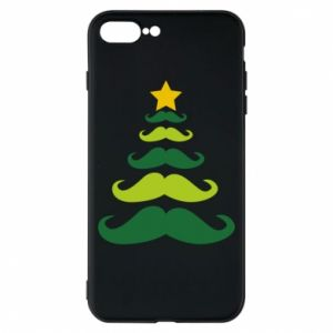 Etui na iPhone 8 Plus Mustache Christmas Tree