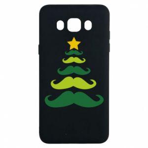 Etui na Samsung J7 2016 Mustache Christmas Tree