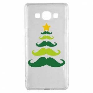 Etui na Samsung A5 2015 Mustache Christmas Tree