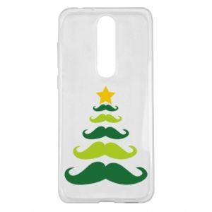 Etui na Nokia 5.1 Plus Mustache Christmas Tree
