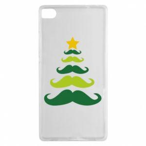 Etui na Huawei P8 Mustache Christmas Tree