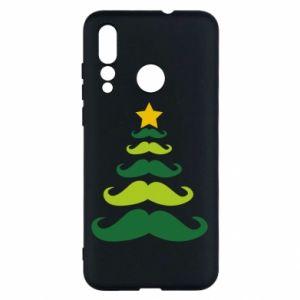 Etui na Huawei Nova 4 Mustache Christmas Tree