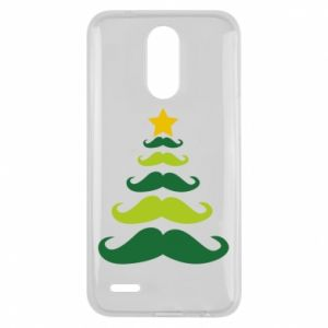 Etui na Lg K10 2017 Mustache Christmas Tree