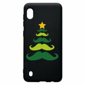 Etui na Samsung A10 Mustache Christmas Tree