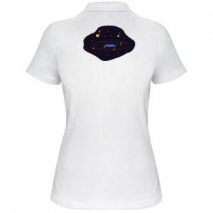 Koszulka polo damska Muzyczna galaktyka