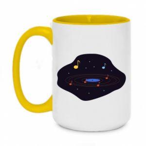 Kubek dwukolorowy 450ml Muzyczna galaktyka