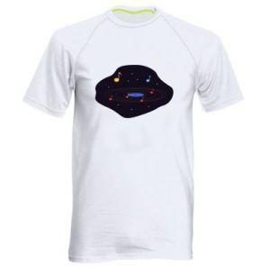 Męska koszulka sportowa Muzyczna galaktyka