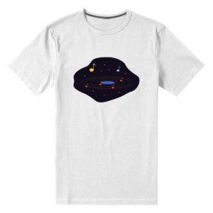 Męska premium koszulka Muzyczna galaktyka