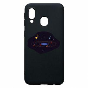 Etui na Samsung A40 Muzyczna galaktyka
