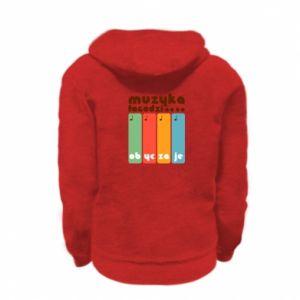 Bluza na zamek dziecięca Muzyka łagodzi
