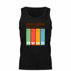 Męska koszulka Muzyka łagodzi