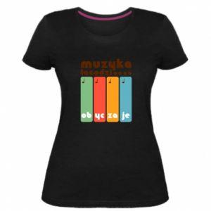 Damska premium koszulka Muzyka łagodzi