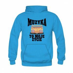 Kid's hoodie Music is my life