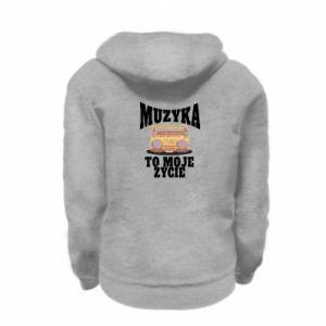 Kid's zipped hoodie % print% Music is my life