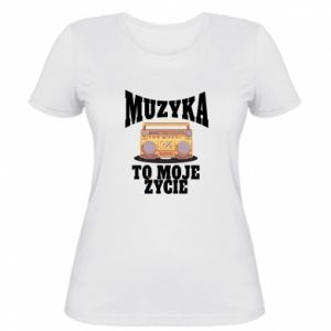 Women's t-shirt Music is my life