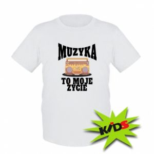 Kids T-shirt Music is my life