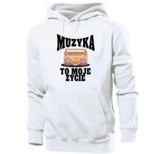 Men's hoodie Music is my life