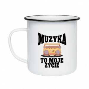 Enameled mug Music is my life