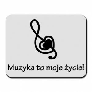Podkładka pod mysz Muzyka to moje życie!