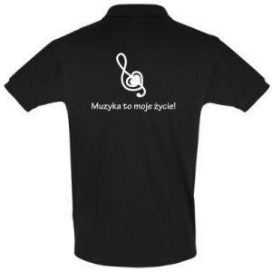 Koszulka Polo Muzyka to moje życie!
