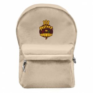 Backpack with front pocket Music is the answer