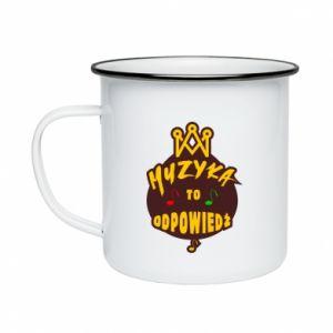 Enameled mug Music is the answer