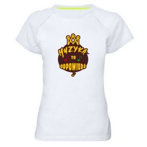 Women's sports t-shirt Music is the answer