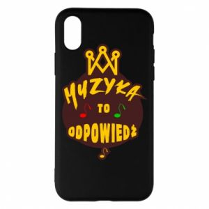 Phone case for iPhone X/Xs Music is the answer