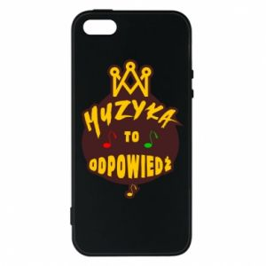 Phone case for iPhone 5/5S/SE Music is the answer