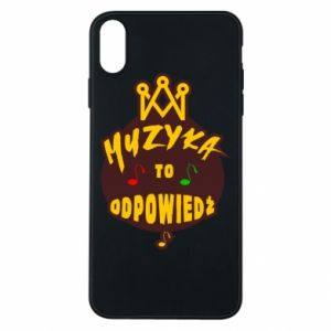 Phone case for iPhone Xs Max Music is the answer