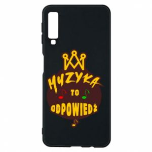 Phone case for Samsung A7 2018 Music is the answer