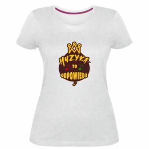 Damska premium koszulka Muzyka to odpowiedź