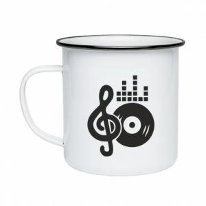 Enameled mug Music