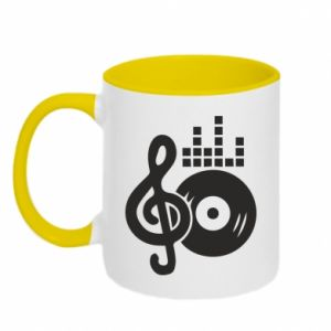 Kubek dwukolorowy Muzyka