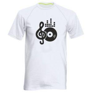 Męska koszulka sportowa Muzyka