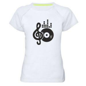 Damska koszulka sportowa Muzyka