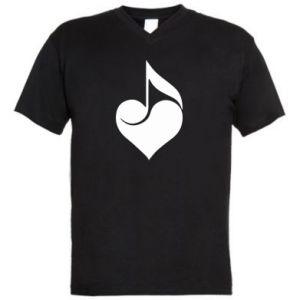 Męska koszulka V-neck Muzyka